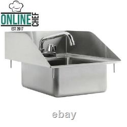 10 x 14 x 5 16 Gauge Stainless Steel One Compartment Drop In Sink 8 Faucet
