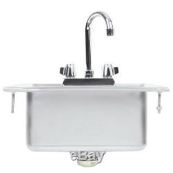10 x 14 x 5 16-Gauge Stainless Steel One Compartment Drop-In Sink w Faucet