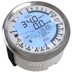12V 6IN1 GPS Speedometer Tachometer Oil Pressure Water Temp Voltmeter Fuel Gauge