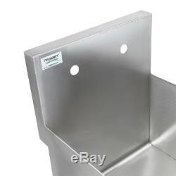 18 16-Gauge Stainless Steel One Compartment Commercial Restaurant Mop Prep Sink