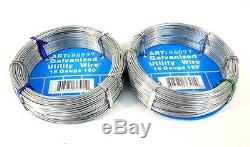 18-Gauge Galvanized Utility Steel Wire Rolls For Home Craft Project