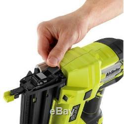 18-Volt ONE+ Cordless AirStrike 18-Gauge Brad Nailer Tool Only Garage Work Home
