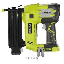 18-Volt ONE+ Cordless AirStrike 18-Gauge Brad Nailer (Tool Only) with Sample