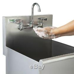 18 x 18 x 13 16-Gauge Stainless Steel One Compartment Commercial Utility Sink