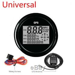 1X 85mm MPH KM/H GPS 12V 24V Digital SOG COG ODO TRIP Car Boat Speedometer Meter