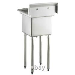 20 1/2 18 Gauge Stainless Steel One Compartment Commercial Sink NSF Restaurants