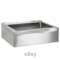 25' 16-Gauge Stainless Steel One Compartment Floor Mop Sink 20'x 16'x6' Bowl