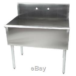 36 16-Gauge Stainless Steel One Compartment Commercial Utility Sink 36 x 21