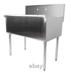 36 16-Gauge Stainless Steel One Compartment Commercial Utility Sink Garage Wash