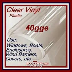 40gge CLEAR VINYL 15yd/L x54W for WindowEnclosureIsin-EisenGlass ONESHIPPING