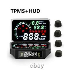 5.8 Car HUD Display Windshield Projector Car Speed & Diagnostic Monitor System