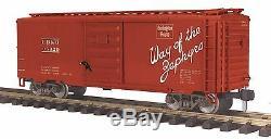 70-74082 MTH ONE-GAUGE Burlington (#35020) 40' Box Car SPECIAL DEAL