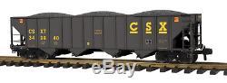 70-75039 MTH ONE GAUGE- CSX (#349840) 4-Bay Hopper Car