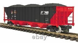 70-75054 MTH ONE GAUGE NS (First Responders) 4-Bay Hopper Car (#76640)