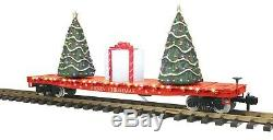 70-76059 Flat Car withlighted Christmas Trees ONE Gauge RailKing
