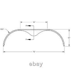 72x10 3/4 Tandem Axle 16-Gauge Steel Trailer Fender (one fender)