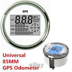 85mm GPS Digital Speedometer Odometer Gauge For Auto Car Truck Marine Waterproof