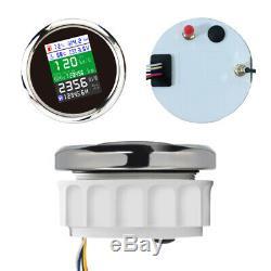 85mm Multi-function Gauge Car Marine GPS Speed Odometer Tacho Oil Temp Pressure