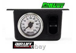 Air Lift Single Needle Gauge Pressure Dial Panel with One Paddle Switch 200 PSI