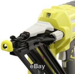 Angled Nailer Cordless Air Nail Gun Finish Trim 18 Volt 15-Gauge Ryobi ONE+ Tool
