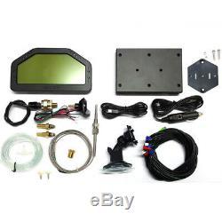 Auto Car Dashboard LCD Screen Rally Gauge Dash Race Display Bluetooth Sensor Kit
