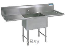 BK Resources 16x20x14 One Compartment 16 Gauge Stainless Steel Sink
