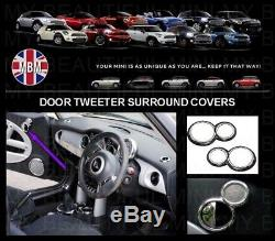 BMW MINI Chrome Interior Dial Trim Kit 2001-2006 Cooper/S/ONE R50 R52 R53 25pc