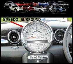 BMW MK2 MINI CLUBMAN Cooper, Cooper S, & ONE, Chrome Interior Dial Trim Kit 27pc