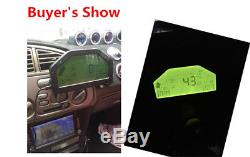 Car Dash Bluetooth OBDII Race Gauge LCD Display Rally Meter RPM Speed Temp Fuel