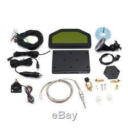 Car Dashboard LCD Screen Rally Gauge Dash Race Display Bluetooth Full Sensor Kit