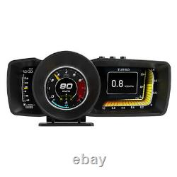 Car HUD Head-up Display OBD GPS Dual System Driving Computer LCD Alarm Function