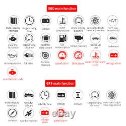 Car Head Up Display Speed/RPM/Voltage/trip distance Warning Hud Fault Code Scan