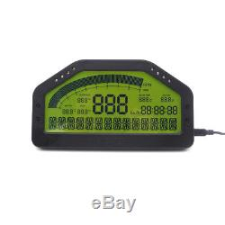 Car LCD Screen Race Dashboard Display Bluetooth Full Sensor Rally Gauge Kit