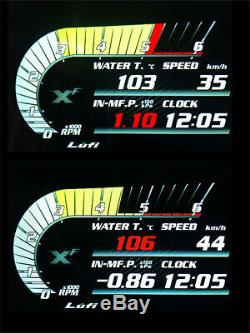 Car OBD2 Digital Turbo Boost Oil Pressure Gauge Speed Meter Real-time Monitoring