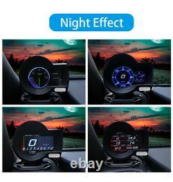 Car OBD2 Gauge HUD Digital Display Speedometer Oil Temperature Fault Code Clear