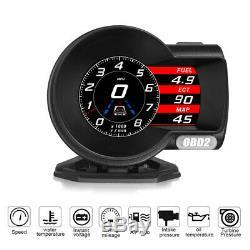 Car OBD2 Multifunction Gauge Head-Up Digital Display Boost Data Scan Fuel Speed