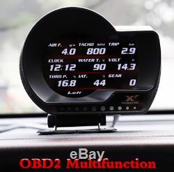 Car OBD2 Multifunction Gauge Head-Up Display Turbo Boost Gauge Fuel Speed Meter