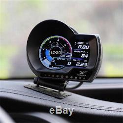 Car OBD2 Speed Display meters Turbo Boost Pressure Meter Support Alarm System