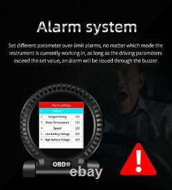 Car OBD2 Speedometer Head Up Display Overspeed MPH/KM Speed Warning Alarm