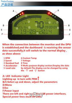 Car Pickup Dash Race LCD Screen Display OBD2 Bluetooth Dashboard Digital Gauge