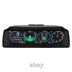Car Truck GPS Slope Meter HUD Head-Up Display Speedometer Digital Alarm Gauge
