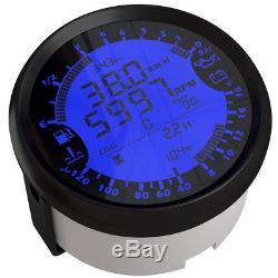 Digital Car GPS Speedo Tacho Indicator Volt Fuel Water Temp Oil Gauge 3Unit 85mm