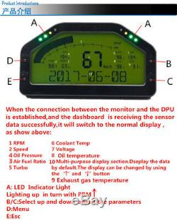 Durable LCD Car Dash Dashboard Rally Gauge Speed Voltage Odometer Air Fuel Ratio