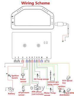 Full Car Sensor Kit Dash Race Display Bluetooth Rally Dashboard Gauge Monitor
