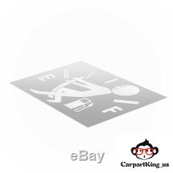 Funny Car Vinyl Sticker High Gas Consumption Decal Fuel Gage Empty X1 US