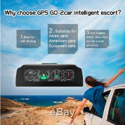 GO2 For Car Electronics GPS Speedometer HUD Display GPS Speed Projector Device