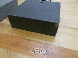 Granite, Rectangular Base, Comparator Gage Stand. One Pair TWO