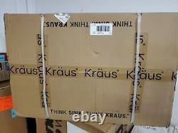 KRAUS KWU110-30 Kore Workstation 30-inch Undermount 16 Gauge One Bowl Stainless