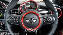 MINI Cooper/S/ONE F55 F56 F57 RED Interior Rings Kit for models withNavigation XL