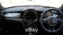MINI Cooper/S/ONE F55 F56 F57 WHITE Union Jack Dashboard Panel Trim Cover LHD